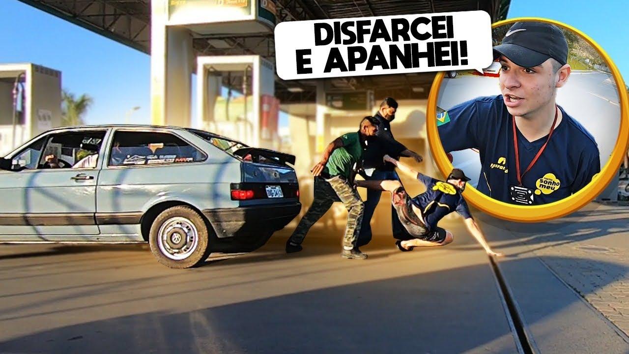 ME FINGI DE FRENTISTA EM UM POSTO DE GASOLINA PARA ABASTECER MEU CARRO!!!(LEVEI UM CORO!!!)