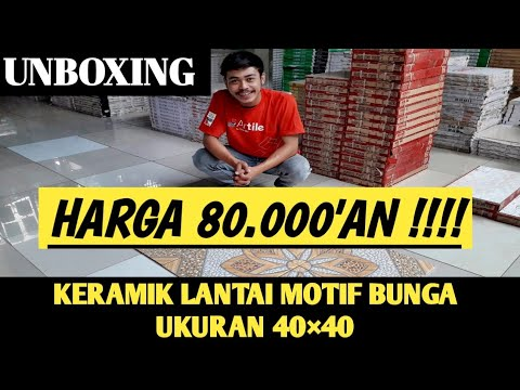 Keramik Lantai Motif Bunga Ukuran 40 40 Rojohousesolution Agung Anjar Youtube