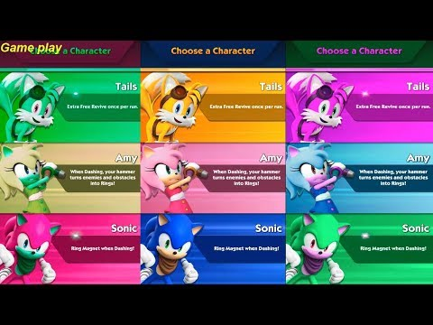 Learn Colors With Sonic Dash 2: Sonic Boom Colours For Kids Children Toddlers Baby