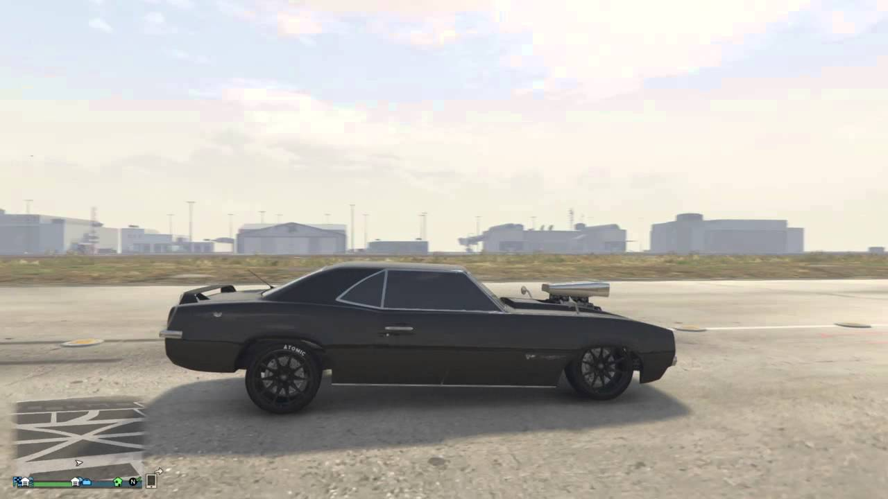 Gta V Online Wheelie Effect In Declasse Vigero Muscle Car Youtube