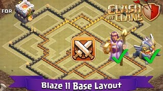 Clash Of Clans: TH11 | BEST Clan War Base Layout (With GW and Eagle Artillery) - Blaze 11