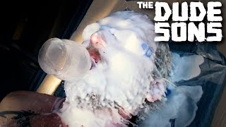 100 LAYERS OF BURNING CANDLE WAX CHALLENGE! - The Dudesons