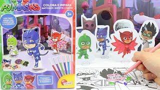 PJ Masks Super Pigiamini ✏️ La Scatola Colora e Impara con Gufetta, Gattoboy e Geco!