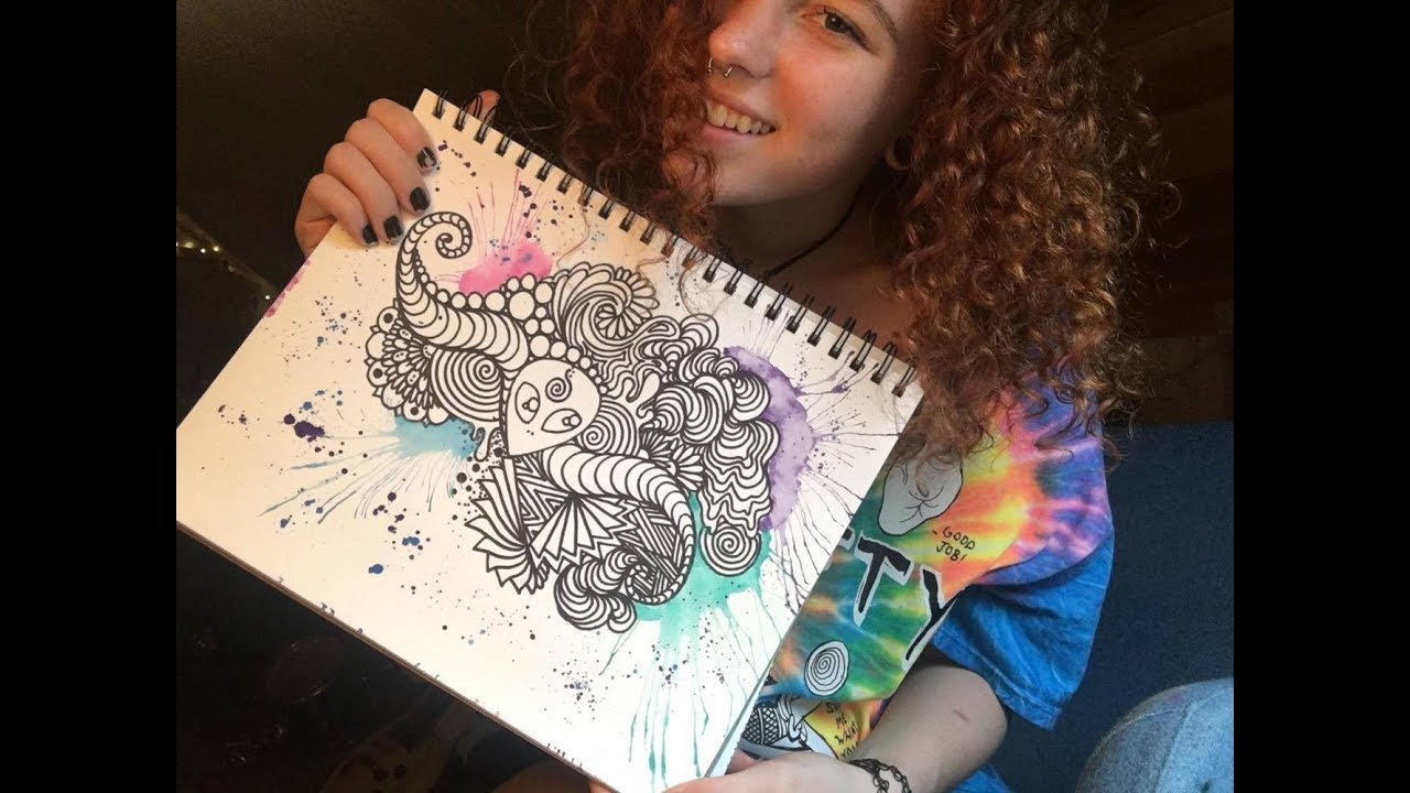 Trippy Word Of Doodle's Drawing by Nafros Art