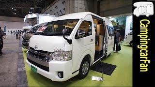 【アルコーバ】縦置き2段ベッドを持つふたり旅仕様ハイエースバンコンキャンピングカー Japanese  campervan campingcar