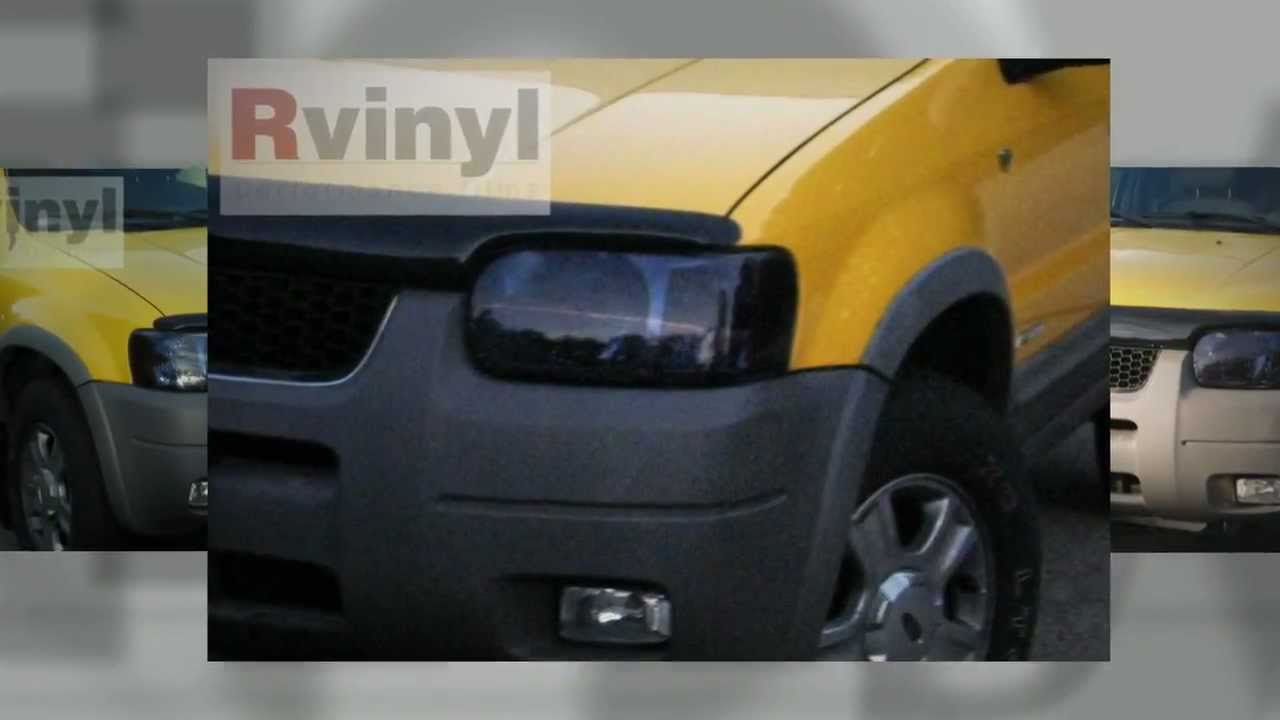 Blacked Out Ford Escape Headlight Tint Customer Installation Video