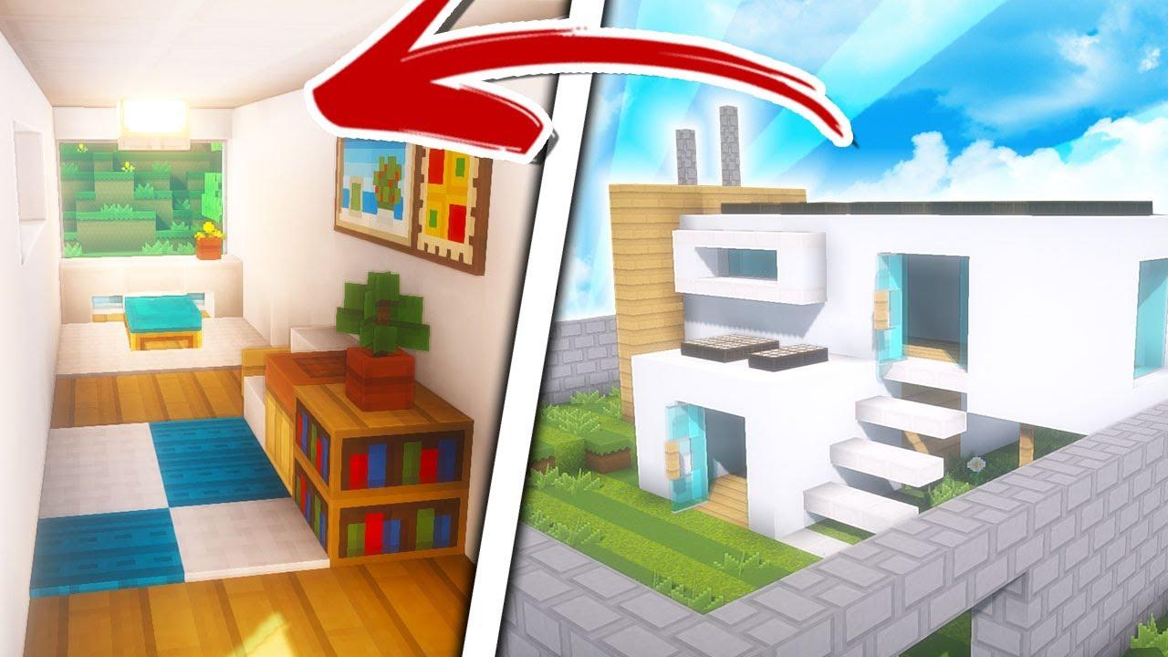 Minecraft decoraci n casa moderna con oficina ecol gica for Decoracion casa clasica moderna