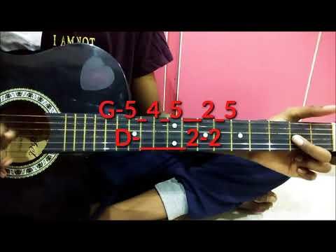 Nannaku prematho music on guitar