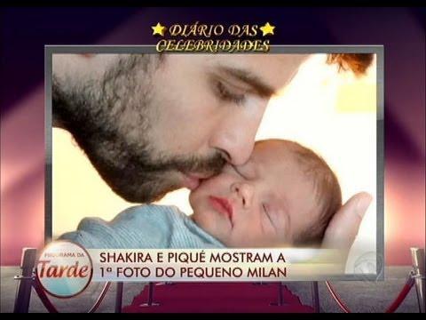 Shakira e Piqué divulgam pela 1ª vez foto do pequeno Milan