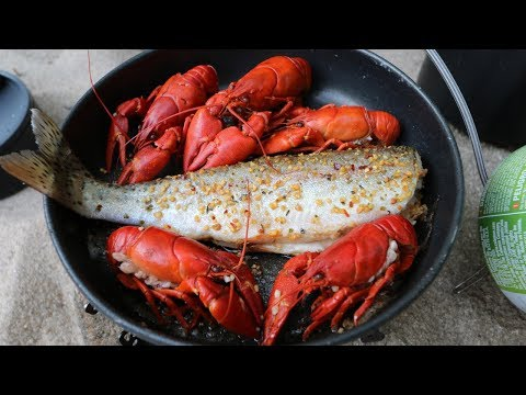 Catch N' Cook SPICY Crawfish And WILD Trout!