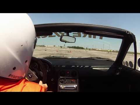 June 25, 2017 SCCA Autocross in STS Miata at Texas Motor Speedway Bus Lot