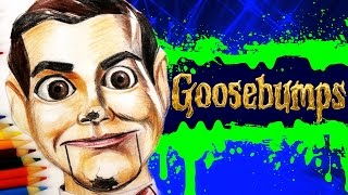 GOOSEBUMPS Learn How To Draw SLAPPY THE DUMMY. SPEED DRAWING