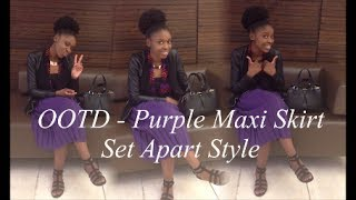 Modest OOTD - Purple Midi Skirt