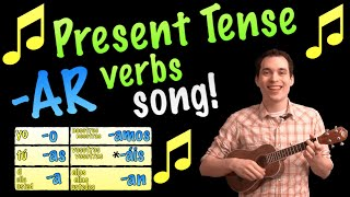 present tense ar verbs made easy with a song in spanish
