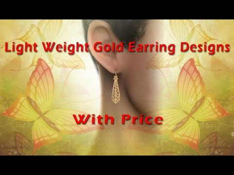 Light Weight Gold Earring Designs With Price