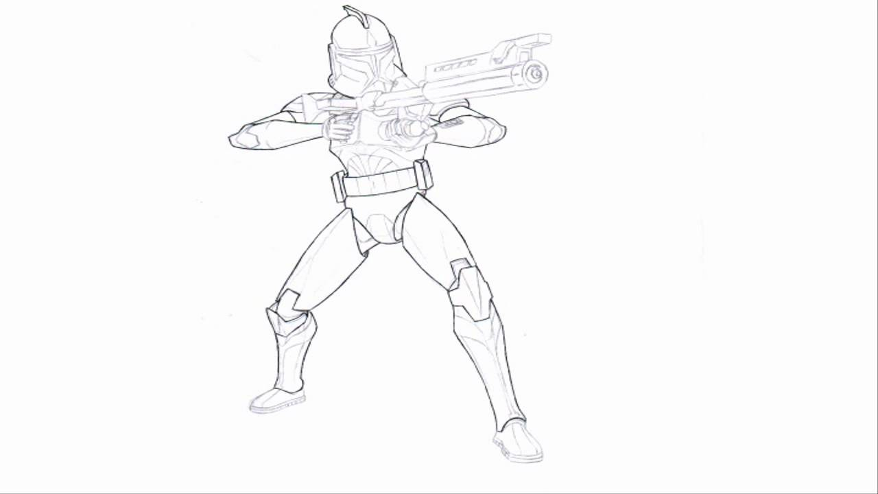 clone commander gree coloring pages - photo#20