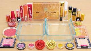 Rose vs Gold Crush - Same Same Edition - Mixing Makeup Eyeshadow Into Slime ASMR
