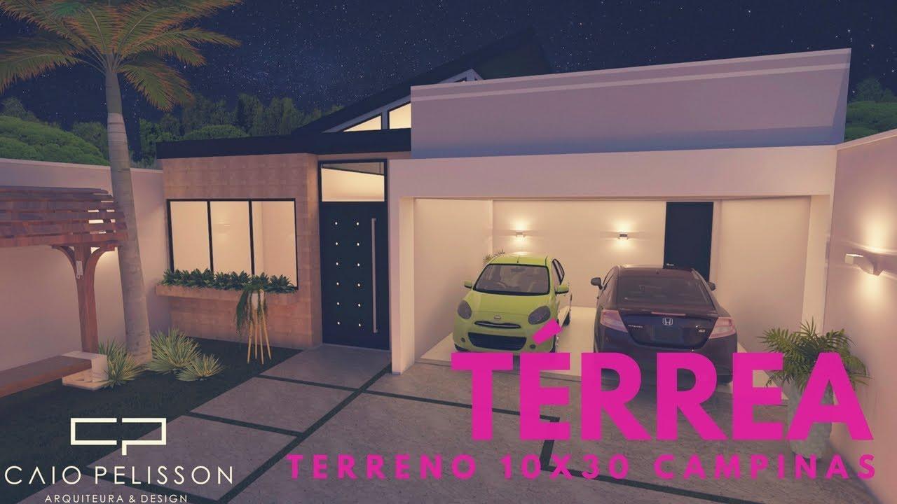 Projeto constru o casa t rrea terreno 10x30 130 m2 for Casa moderna 60 m2