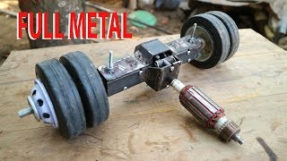 How to make RC heavy Truck Rear Axle from faulty Grinder.