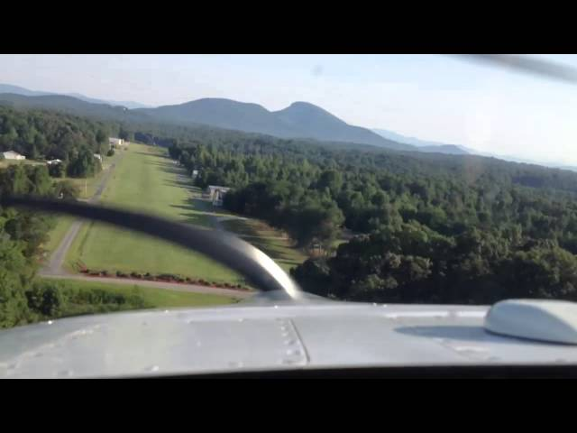 Lucky 7, N112B. Landing Runway 35 at Mountain Airpark in Cleveland, GA (0GE5) on 8/16/2014.