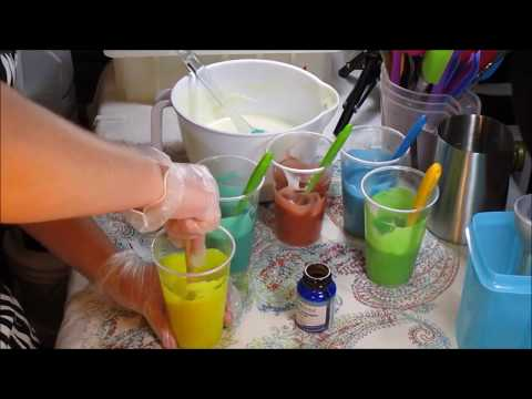 """Making and cutting """"Coconut Water & Pineapple"""" Cold process soap"""