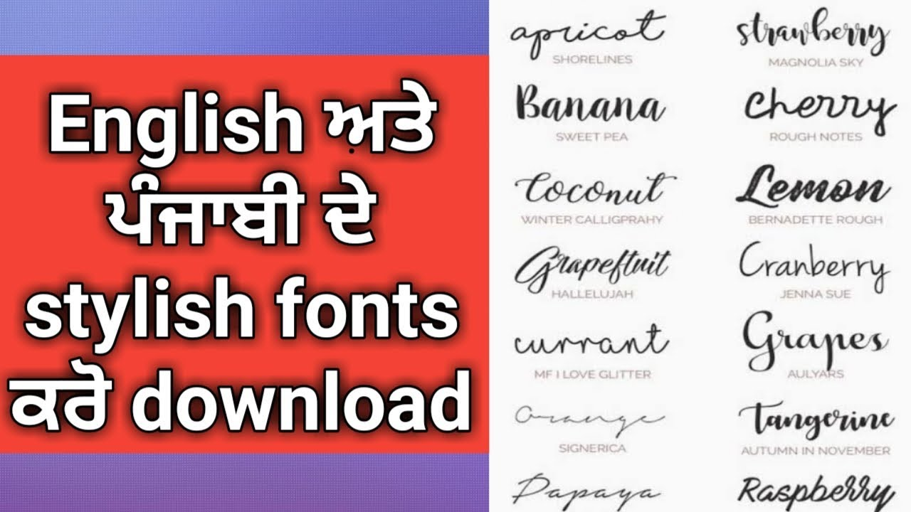 punjabi fonts for android free download