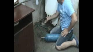 Прочистка канализации сжатым воздухом.(, 2016-07-11T07:55:34.000Z)