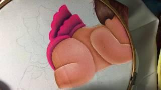 Pintura En Tela Beba # 3 Con Cony