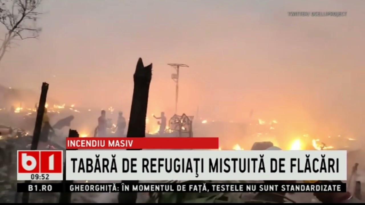 BANGLADESH - INCENDIU MASIV LA O TABARA DE REFUGIATI_Stiri B1_23 martie 2021