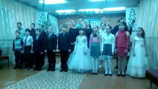 Учащиеся ДМШ исполняют песню Мы маленькие дети из к ф  Приключения Электроника
