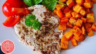 Healthy Dinner: Baked Sweet Potato & Honey Turkey - Индейка со сладким картофелем