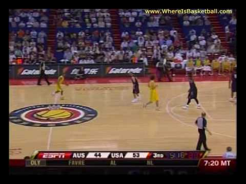 Team USA vs Australia 2008 Olympic Warm Up Basketball