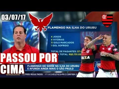 BOMBA! CAIU NA ILHA O CENI PIRA! FLAMENGO DERRUBA TEC. DO SAO PAULO RADIO FOX 3/7
