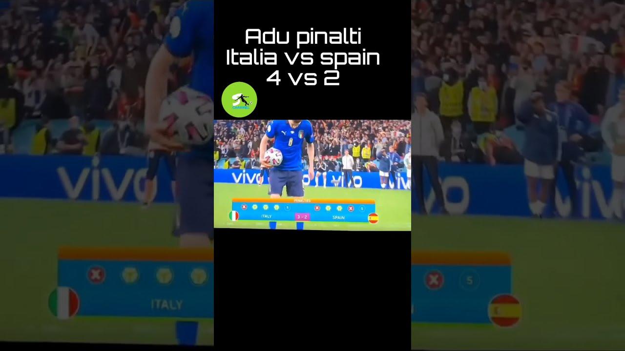 Adu pinalti italia vs spanyol euro 2021 - YouTube