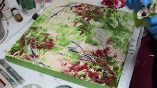 "Cold Wax & Oil Painting Demo of ""Monarda"""