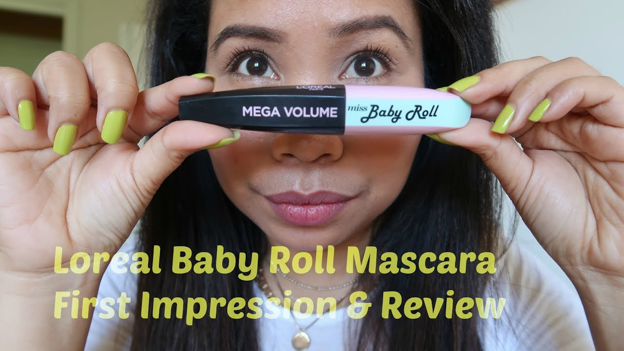 bcb9814cd2a NEW LOREAL MISS BABY ROLL MASCARA FIRST IMPRESSION & REVIEW by Shy's Mode