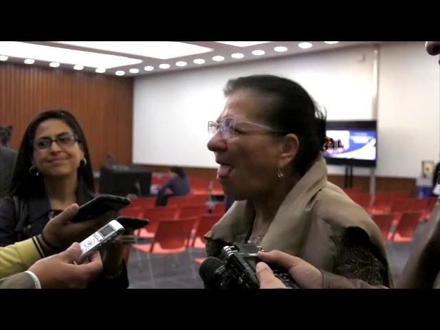 Entrevista a la Presidenta de la CDHCDMX, Nashieli Ramírez, después del Conversatorio