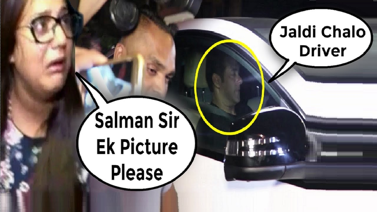Salman Khan Rude Behaviour Towards A Female Fan Waiting From 2 Hours