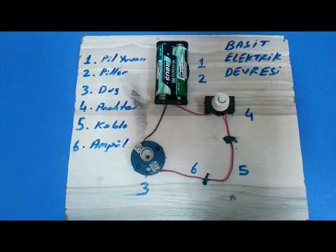 Basit Elektrik Devresi Nasıl Yapılır? İlk ve Ortaokul Elektrik Deneyi