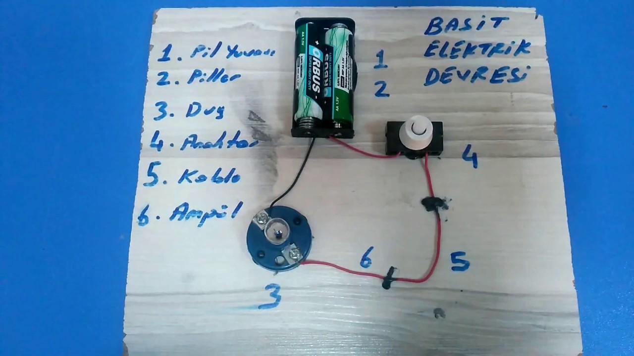 Basit Elektrik Devresi Nasıl Yapılır? İlk ve Ortaokul Elektrik ...