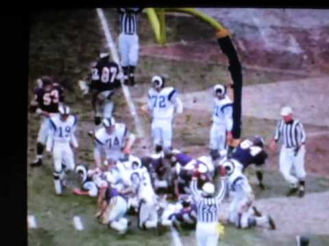 Minnesota Vikings vs LA Rams, Dec 27, 1969 NO SOUND Some Highlights