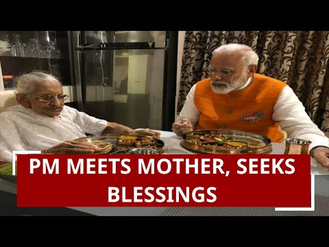 Narendra Modi's 69th birthday: PM meets mother, seeks blessings