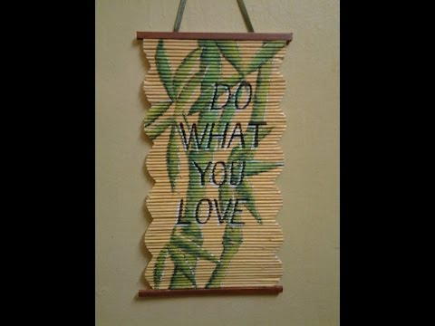 Best out of waste paper wall hanging bamboo plant for Waste paper wall hanging
