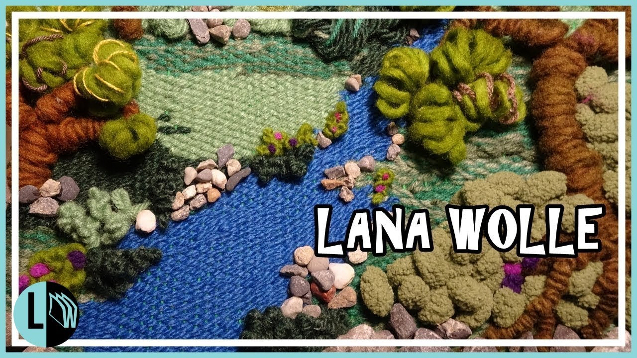 Telar Decorativo Paisaje 1 Paso A Paso Wall Hanging Wandteppich Tutorial Lana Wolle