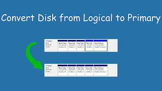 How to convert disk from logical to primary in Win 8