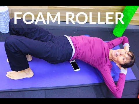Foam Roller for Back Pain and Stiffness Physical Therapist Exercises