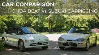 Car Comparison | 1991 Honda Beat vs 1993 Suzuki Cappuccino | Driving.ca