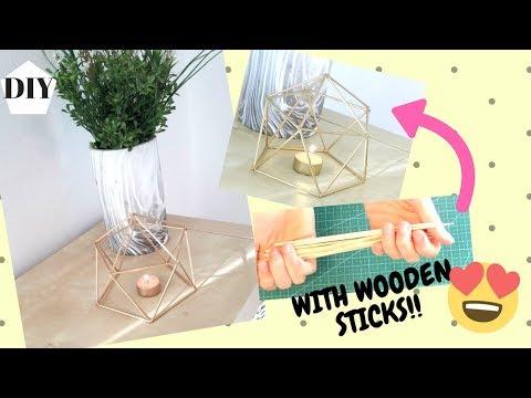 MAKE GEOMETRIC ROOM DECOR WITH STICKS!!! DIY