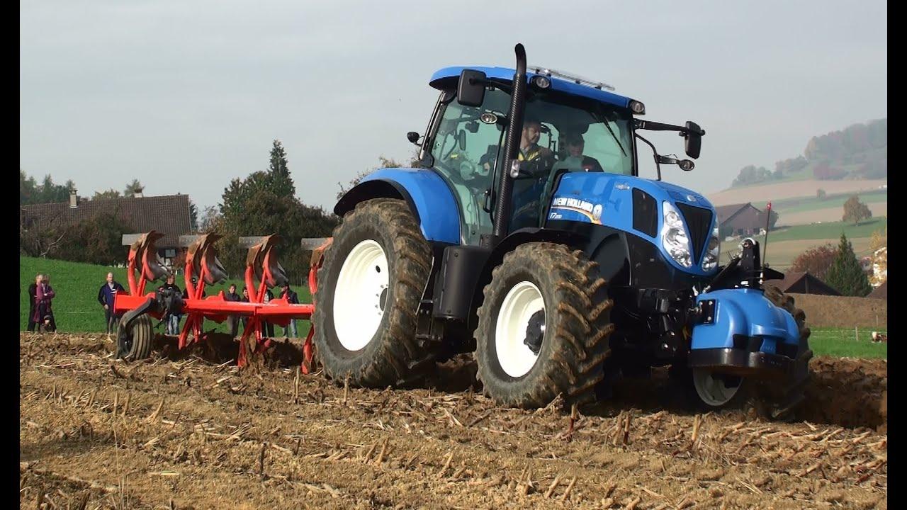 traktor new holland und kuhn pflug youtube. Black Bedroom Furniture Sets. Home Design Ideas