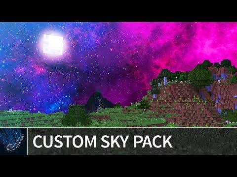 Minecraft 1.13 - TOP 3 CUSTOM SKY TEXTURE PACKS - Beautiful Sky Resource Packs Minecraft 1.13